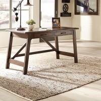 Baldridge Rustic Brown Home Office Large Leg Desk