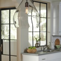 Avalbane Clear/Gray Glass Pendant Light (Includes 1)