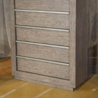 Anibecca Weathered Gray Five Drawer Chest