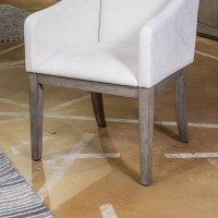 Anibecca Gray Dining Upholstered Arm Chair (Includes 2)