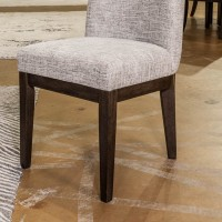 Burkhaus Dark Brown Dining Upholstered Side Chair (Includes 2)