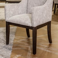 Burkhaus Dark Brown Dining Upholstered Arm Chair (Includes 2)