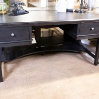 Beckincreek Black Home Office Storage Leg Desk
