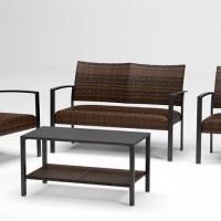 Zariyah Dark Brown Love/Chairs/Table Set (Includes 4)
