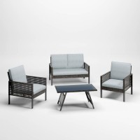 Lainey Gray Love/Chairs/Table Set (Includes 4)