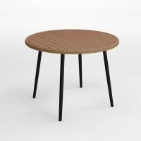 Amaris Brown/Black Round Dining Table