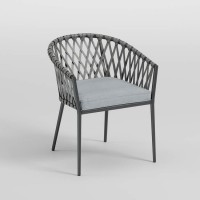 Palm Bliss Gray Chair (Includes 4)