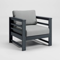 Amora Charcoal Lounge Chair with Cushion (Includes 2)