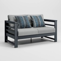 Amora Charcoal Loveseat with Cushion