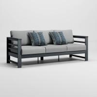 Amora Charcoal Sofa with Cushion