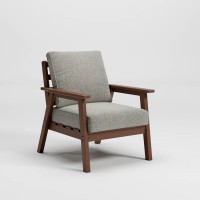 Emmeline Brown Lounge Chair with Cushion (Includes 2)