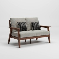 Emmeline Brown Loveseat with Cushion
