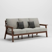 Emmeline Brown Sofa with Cushion
