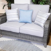Elite Park Gray Loveseat with Cushion