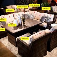 Easy Isle Beige/Brown Chair Seat Cushion