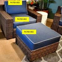 Grasson Lane Brown/Blue Seat Cushion