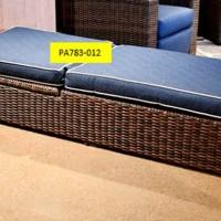 Grasson Lane Brown/Blue Chaise Seat Cushion