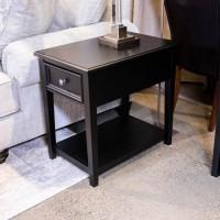 Beckincreek Black Rectangular End Table