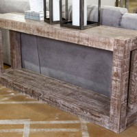 Waltleigh Distressed Brown Console Sofa Table