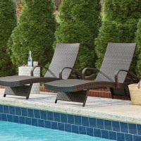 Kantana Brown Chaise Lounge (Includes 2)