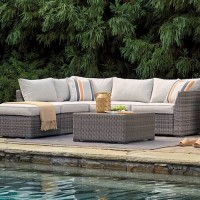 Cherry Point Gray LoveseatSectional/Ottoman/Table Set(Includes 4)