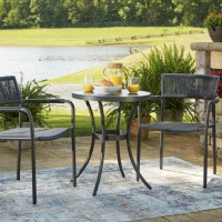 Crystal Breeze Gray Chairs with Table Set (Includes 3)