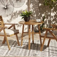 Vallerie Brown Chairs with Cushion/Table Set (Includes 3)