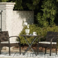 Anchor Lane Brown Chairs with Cushion/Table Set (Includes 3)