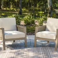 Barn Cove Brown Lounge Chair with Cushion (Includes 2)