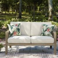 Barn Cove Brown Loveseat with Cushion