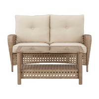 Braylee Driftwood Loveseat with Table (Includes 2)