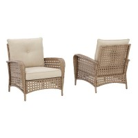 Braylee Driftwood Lounge Chair with Cushion (Includes 2)