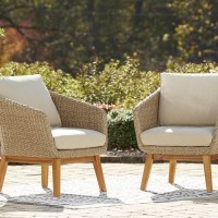 Crystal Cave Beige Lounge Chair with Cushion (Includes 2)