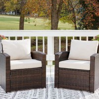 East Brook Dark Brown Lounge Chair with Cushion (Includes 2)