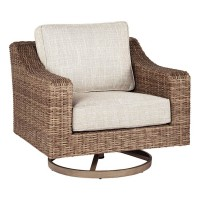 Beachcroft Beige Swivel Lounge Chair (Includes 1)