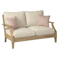 Clare View Beige Loveseat with Cushion