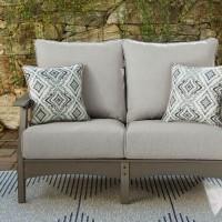 Visola Gray Loveseat with Cushion
