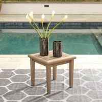 Gerianne Grayish Brown Square End Table