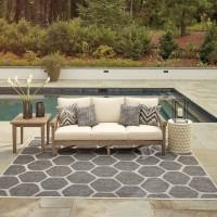 Gerianne Grayish Brown Sofa with Cushion