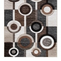 Guintte Black/Brown/Cream Medium Rug