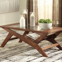 Charzine Warm Brown Accent Table Set