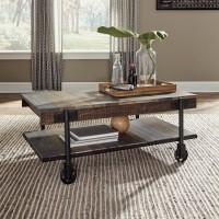 Bostweil Light Brown/Black Rectangular Cocktail Table