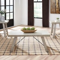Carynhurst Whitewash Occasional Table Set (Includes 3)
