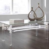 Braddoni Chrome Finish Accent Table Set