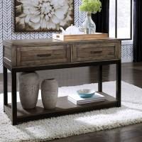Johurst Grayish Brown Sofa Table