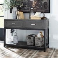 Caitbrook Gray/Black Sofa Table