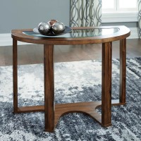 Hannery Brown Sofa Table