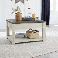 Bolanburg Brown/White Rectangular Lift Top Cocktail Table