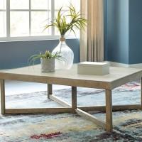 Challene Light Gray Rectangular Cocktail Table