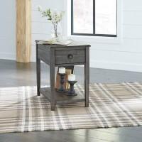 Borlofield Dark Gray Rectangular End Table